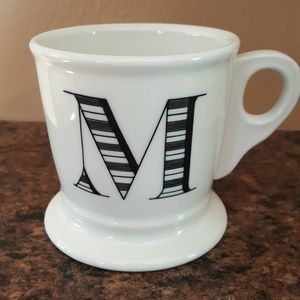 Anthropologie M initial mug